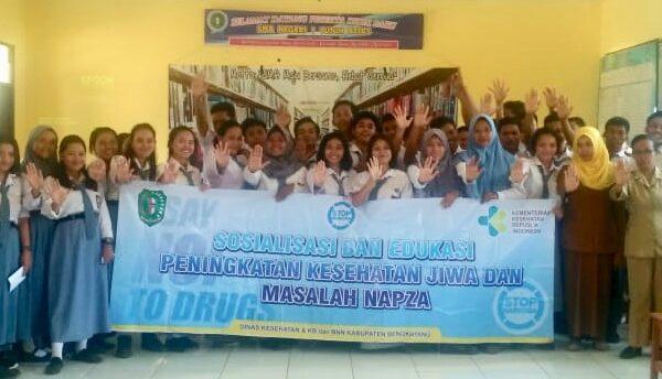 Sosialisasi dan Edukasi Peningkatan Kesehatan Jiwa dan Masalah Napza di SMAN 1 Tujuh Belas