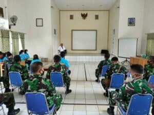 Pemeriksaaan Test Urine/Narkoba kepada anggota Lanud Harry Hadisoemantri dalam Rangka Peringatan HUT TNI AU ke-75 Tahun 2021 di Lanud Harry Hadisoemantri